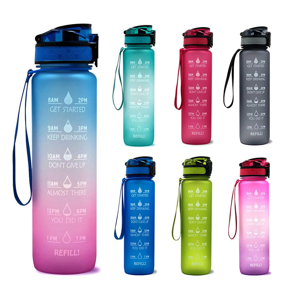 Motivational Water Bottle with Time Marker Leakproof Bottle for Fitness Sports Motivational Water Bottle with Time Marker motivational anatomy