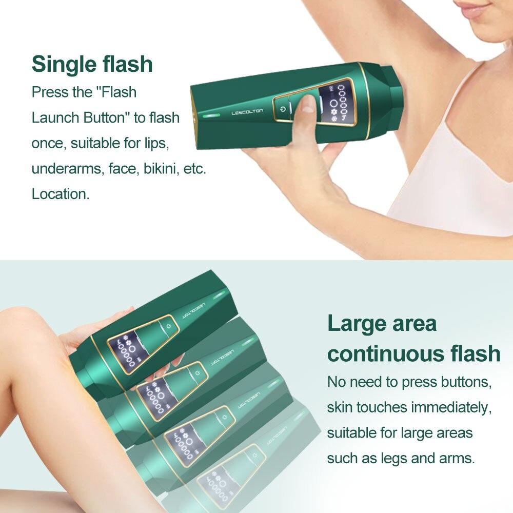 Lescolton IPL Epilator Cooling All in One UV Sterilization Base T015 Laser Hair Removal Depilation Machine Women Men Depilador enlarge