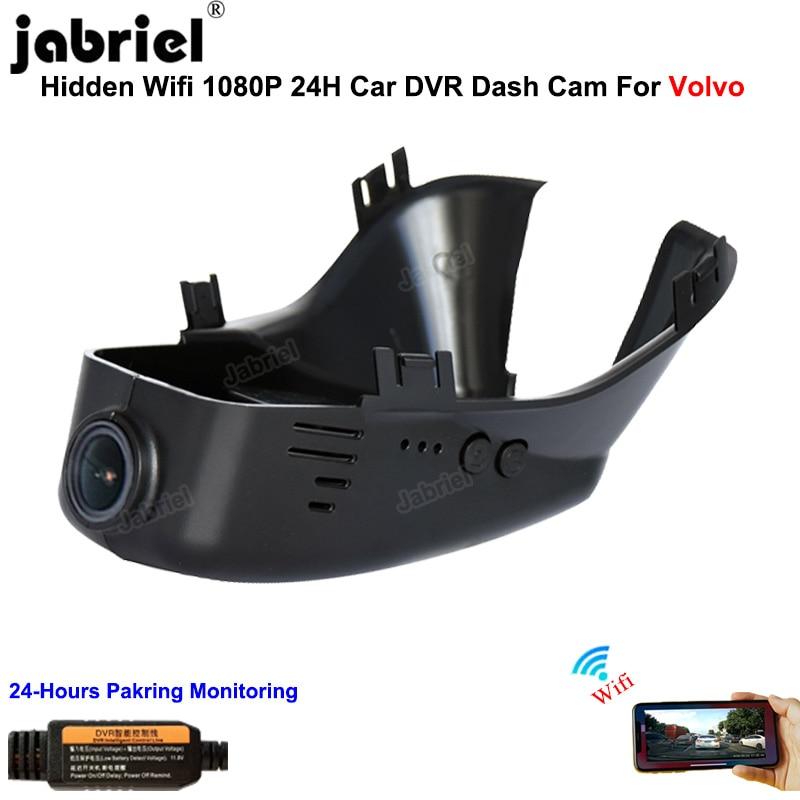 WIFI داش كاميرا جهاز تسجيل فيديو رقمي للسيارات كاميرا 1080P 24H Dashcam EDR مسجل ل فولفو S60 S80 2012 2015 V40 V60 V70 XC60 XC40 XC70 XC90 S40 S90