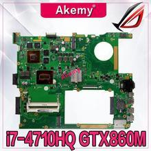 Akemy G771JM carte mère dordinateur portable pour For Asus G771JM G771JW G771J G771 Test carte mère dorigine I7-4710HQ/4720HQ GTX860M-2G