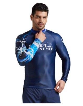Sbart, traje de buceo de manga larga con protección contra rayos UV para Surf y Surf, traje de baño de playa para hombre, camisetas de secado rápido