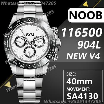 Men's Automatic Mechanical Top Luxury Brand Watch 116500 LN Noob A4130 Best Edition 904L AAA Replica Super Clone V4 Sports ARF