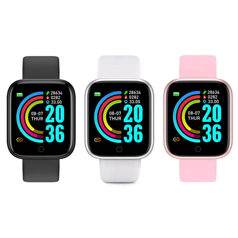 Женские и мужские умные часы Y68, умные водонепроницаемые умные часы с функцией измерения яркости, Bluetooth, фитнес-трекер