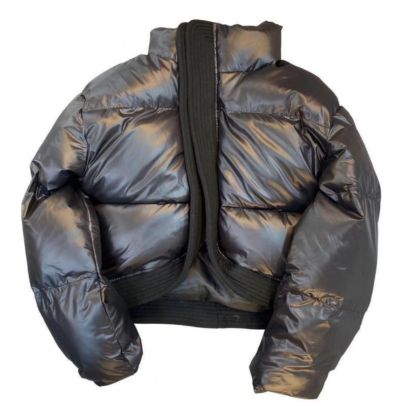 معطف نسائي, جاكيت شتوي نسائي باركا معطف بياقة عالية الخصر ملابس شتوية سميكة سترات شتوية نسائية 2020
