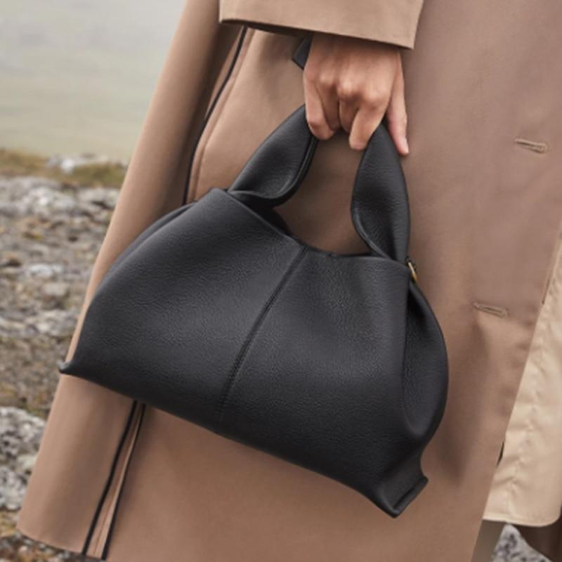 Ruched Hobos Women Handbag Designer Women Bag Luxury Soft Pu Leather Shoulder Crossbody Bags Lady Fashion Simply Tote Purse 2021