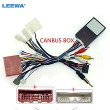 LEEWA автомобильный 16pin аудио жгут проводов с Canbus коробка для Mazda 6 CX 5 стерео Установка провода адаптер # CA6529