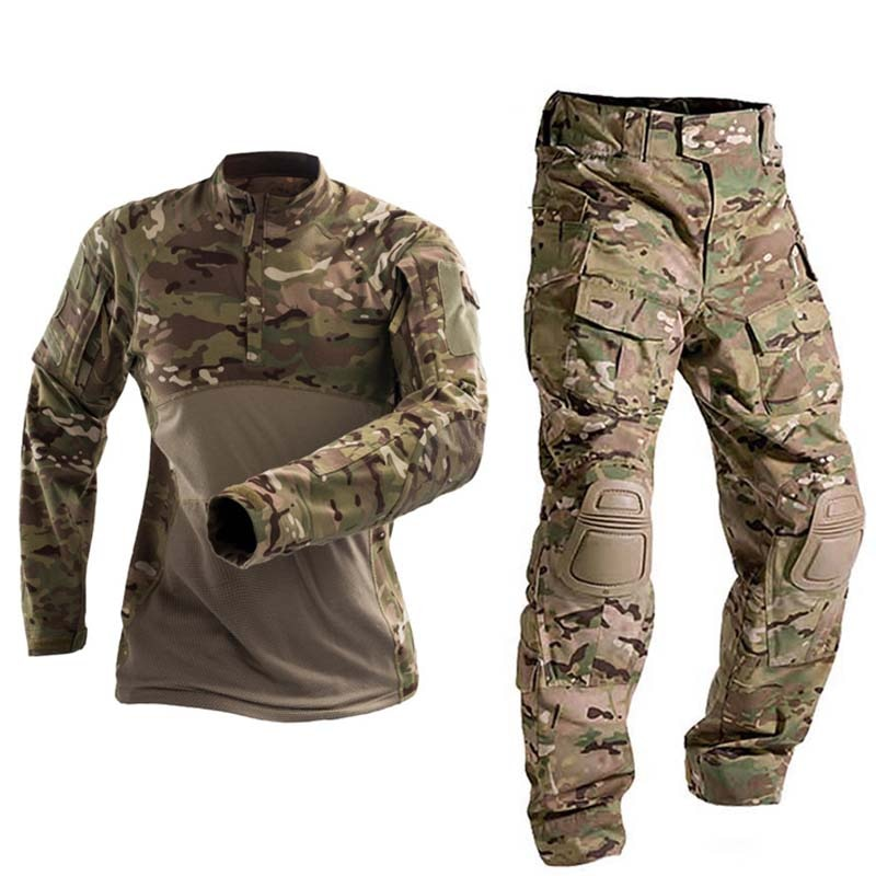 uniforme militar men tactical hunting clothing black python camouflage hunting clothes women army combat multicam shirt pants Military Uniform  Tactical Combat Shirt Us Army Clothing Tatico Tops Airsoft Multicam Camouflage Hunting FishingPants Elbow/Knee