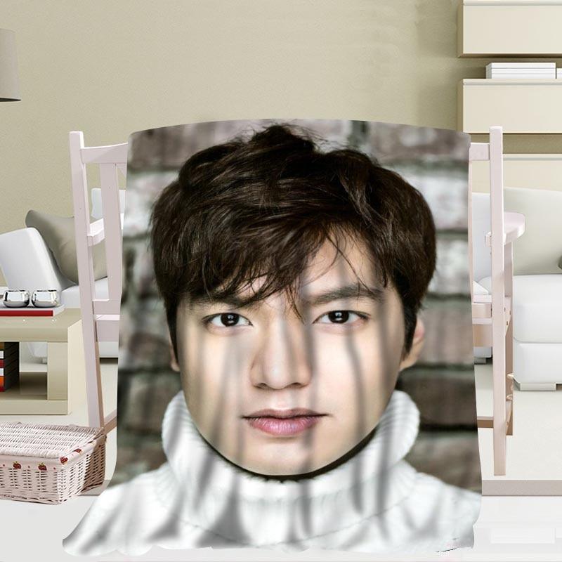 بطانية Kpop Lee Min Ho مخصصة ، مصنوعة من الصوف TR/الفانيلا ، ديكور رأس السنة الجديدة ، مريحة ودافئة ، فائقة النعومة