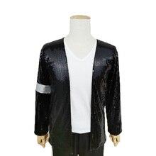 Rare Super MJ Michael Jackson Costume Billie Jean Armband Sequin Jacket gift glove
