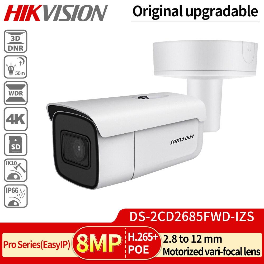 HIK vari-focal 2,8-12mm Bullet IP Cámara DS-2CD2685FWD-IZS 8 megapíxeles Video vigilancia POE CCTV Cámara H.265 IR 50m