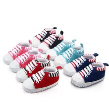 2020 The New Baby Shoes Soft Sole stripe  Baby Girl  Boy Shoes Casual  Baby Girl  Boy Shoes