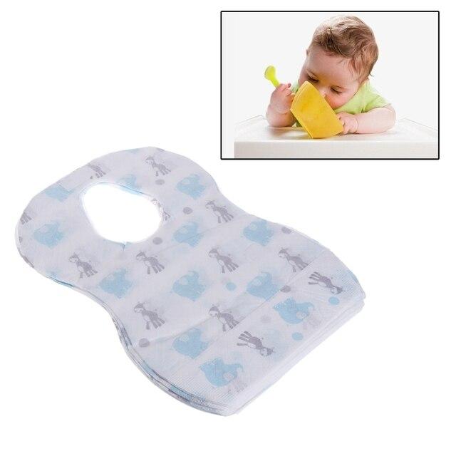 10/20pcs/lot Sterile Disposable Bib Children Baby waterproof Eat Bibs With Pocket Baby kid scarf bib saliva towel bib Convenient 4