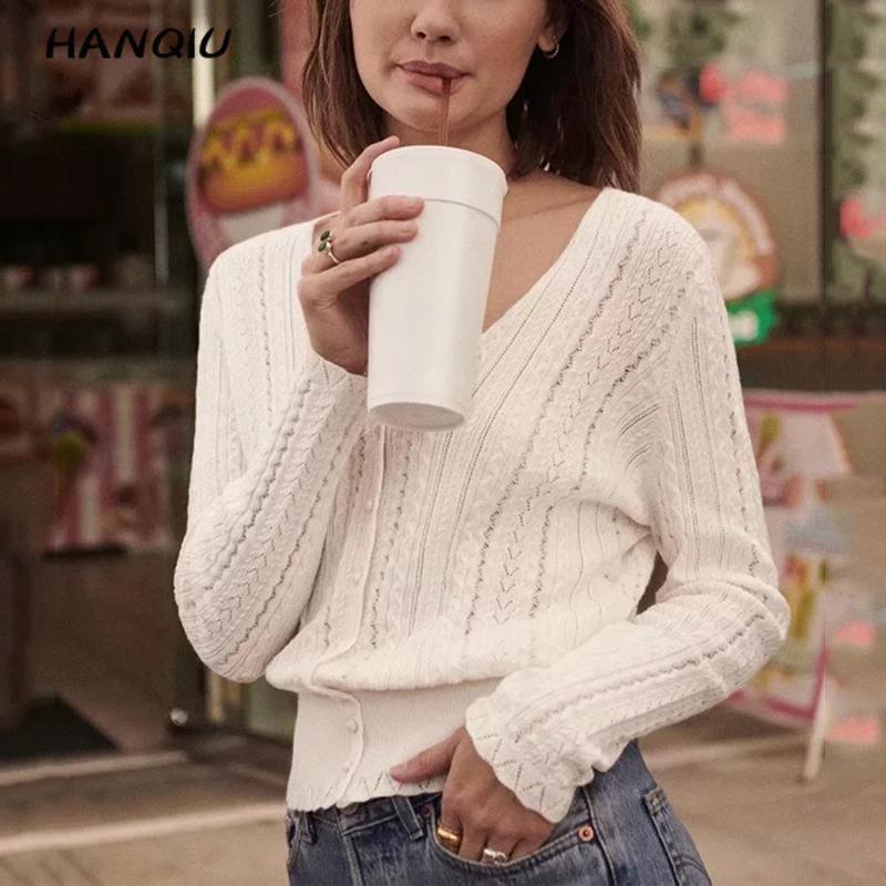 2019 ropa de invierno para mujeres estilo coreano abotonada suéter blanco cardigan mujeres sexy cuello pico Jersey de punto de manga larga streetwear