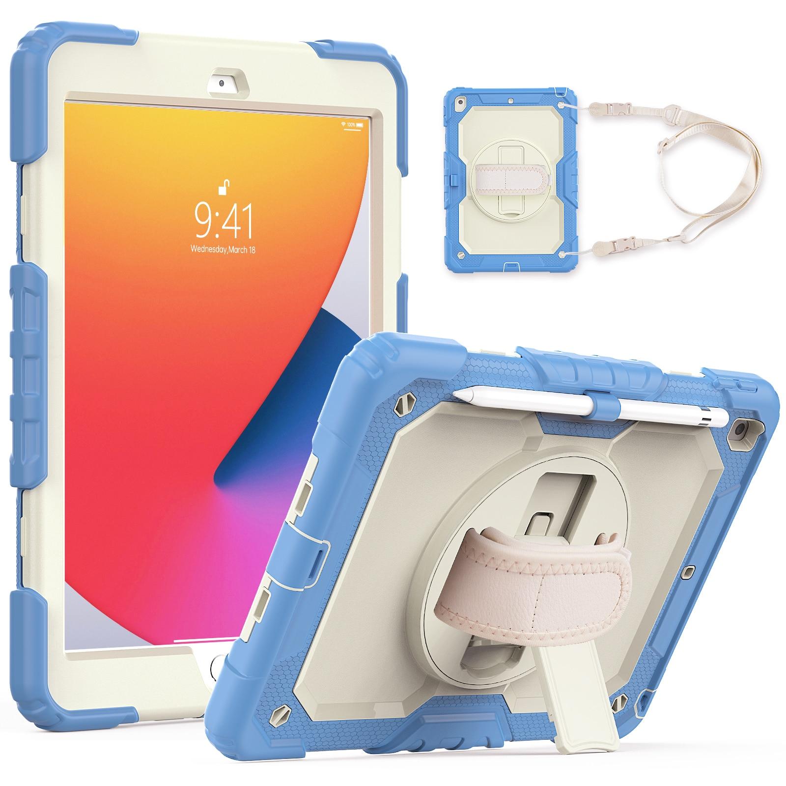حافظة متينة لأجهزة iPad 10.2 2019 2020 7th 8th Gen حافظة مضادة للصدمات غطاء لوحي قوي للأطفال غطاء حماية آمن للأطفال