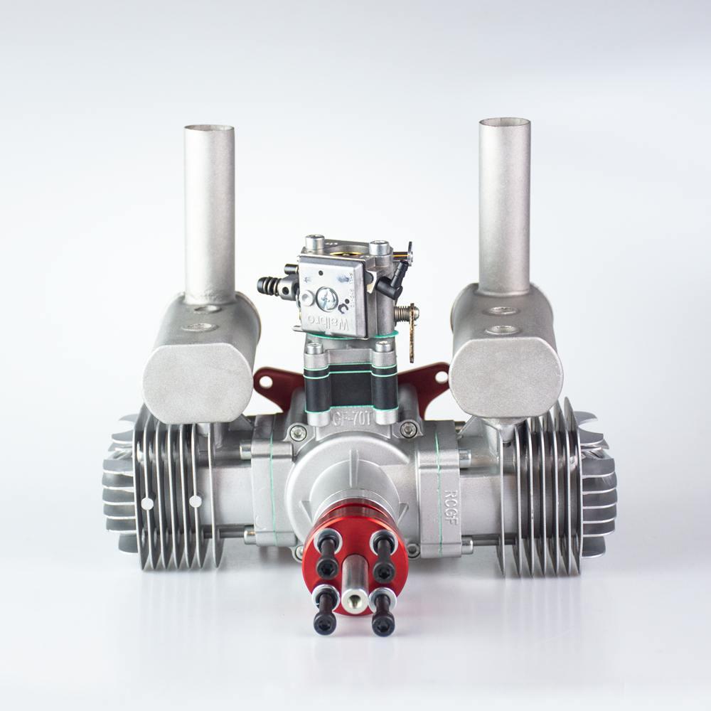 محرك بنزين/بنزين ثنائي الأسطوانة RCGF 70cc لطائرة RC
