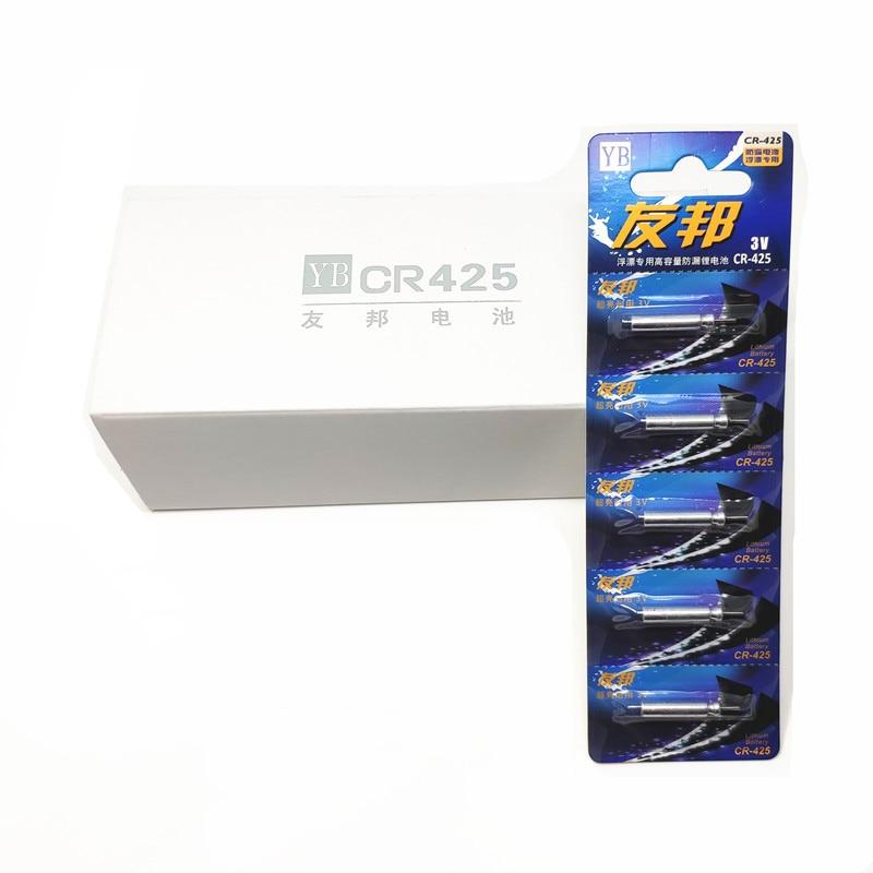 100 unids/lote baterías LED CR425 CR435 CR311 CR322 palo de luz/flotadores luminosos batería 3V accesorios de pesca nocturna Pin Cell J349