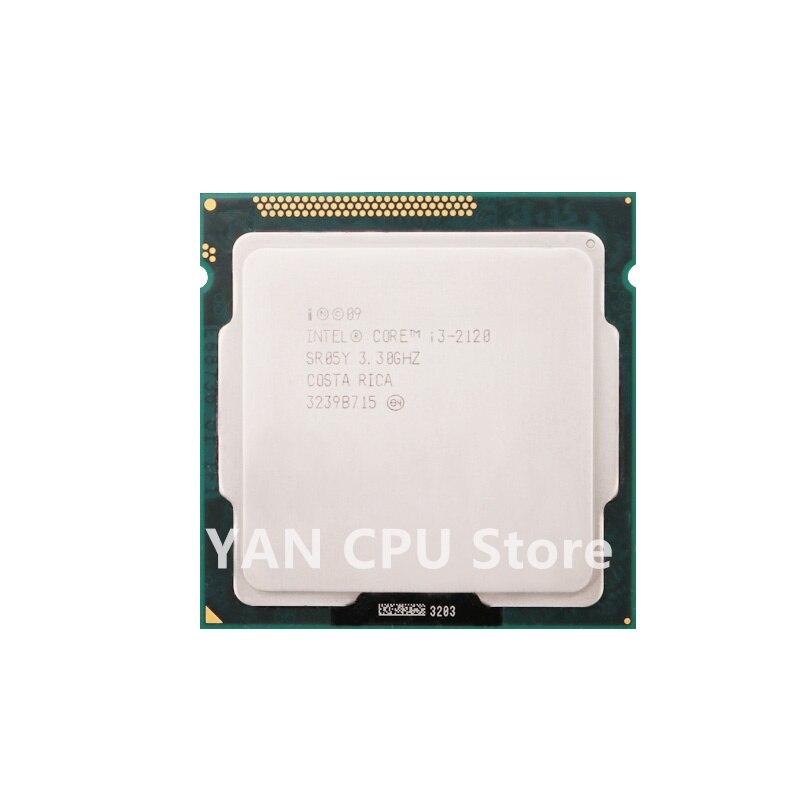 فير الشحن PC الكمبيوتر إنتل كور i3-2120 i3 2120 المعالج 65W 3M مخبأ 3.3GHz LGA 1155 سطح المكتب وحدة المعالجة المركزية اختبار 100% العمل