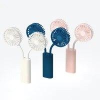 360%c2%b0 adjustable handheld mini fan 2 in 1 foldable cooling fan desktop portable fan usb rechargeable fan with dual battery