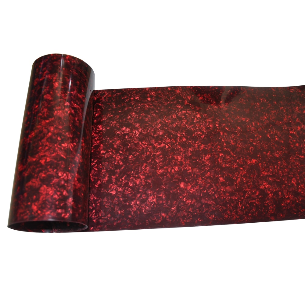 Gauge 0.46mm Celluloid Sheet Drum Wrap Musical Instrument Deco Pearl Red 10x60'' and 16x60'' enlarge