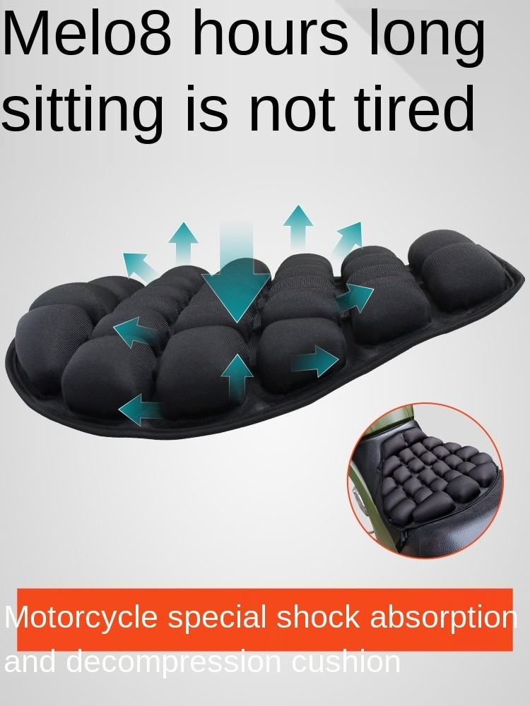 Motorcycle Cushion Cover Airbag Inflatable Decompression Heat Insulation Breathable Summer enlarge