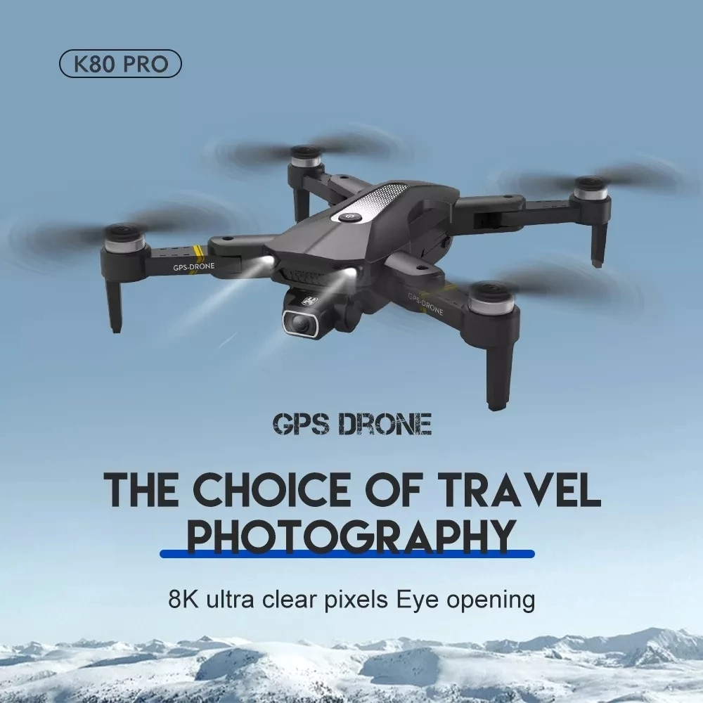 K80 PRO GPS Drone 4k 8K Dual HD Camera Professional Aerial Photography Brushless Motor Foldable Quadcopter RC Distance 1.2km