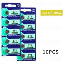 10pcs 371 battery SR69 SR920W SR920SW AG6 L921 605 620 280-31 280-51 Cell Button Watch Batteries Silver Oxide retail card