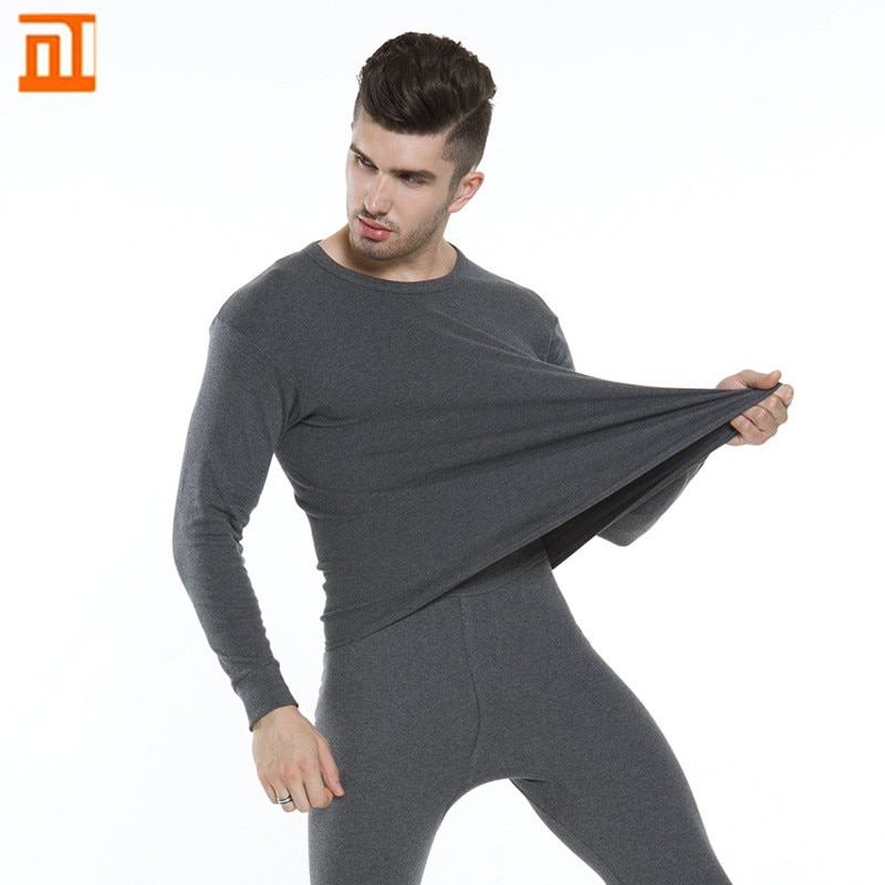 XiaoMi mijia cotton thermal underwear suit mens comfortable skin-friendly moisture wicking underwear men