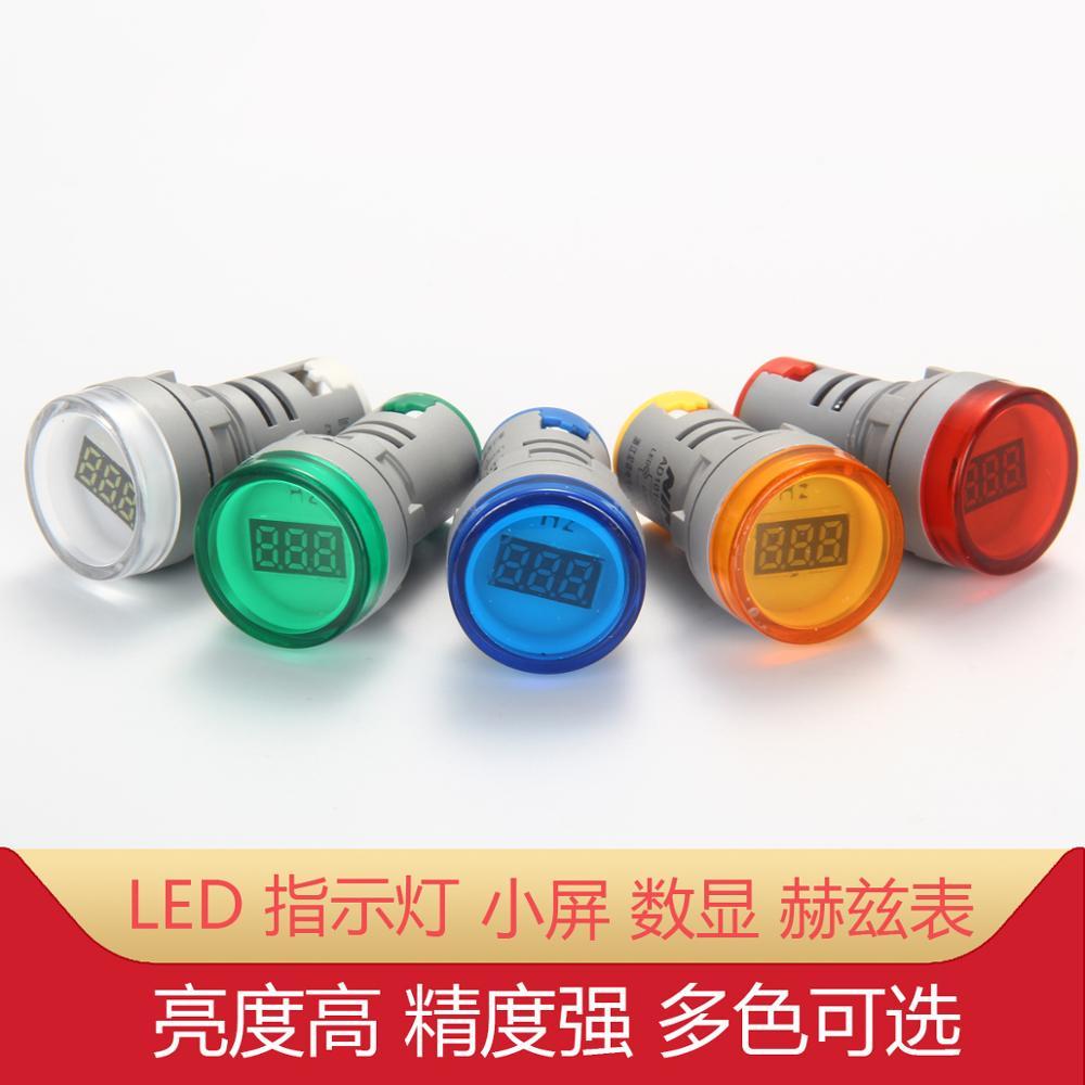 1 шт. AD101-22Hz круговой цифровые электронные сигареты с цифровым дисплей переменного тока Герц метр сигнальная лампа светодиодный Выделите от...