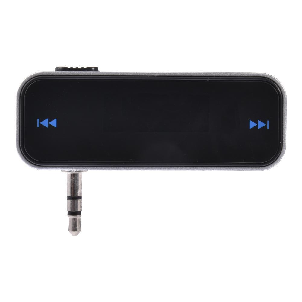Reproductor MP3 transmisor FM inalámbrico Kit de manos libres para coche con Conector estéreo de 3,5mm cargador USB adaptador de corriente para teléfono móvil tablet