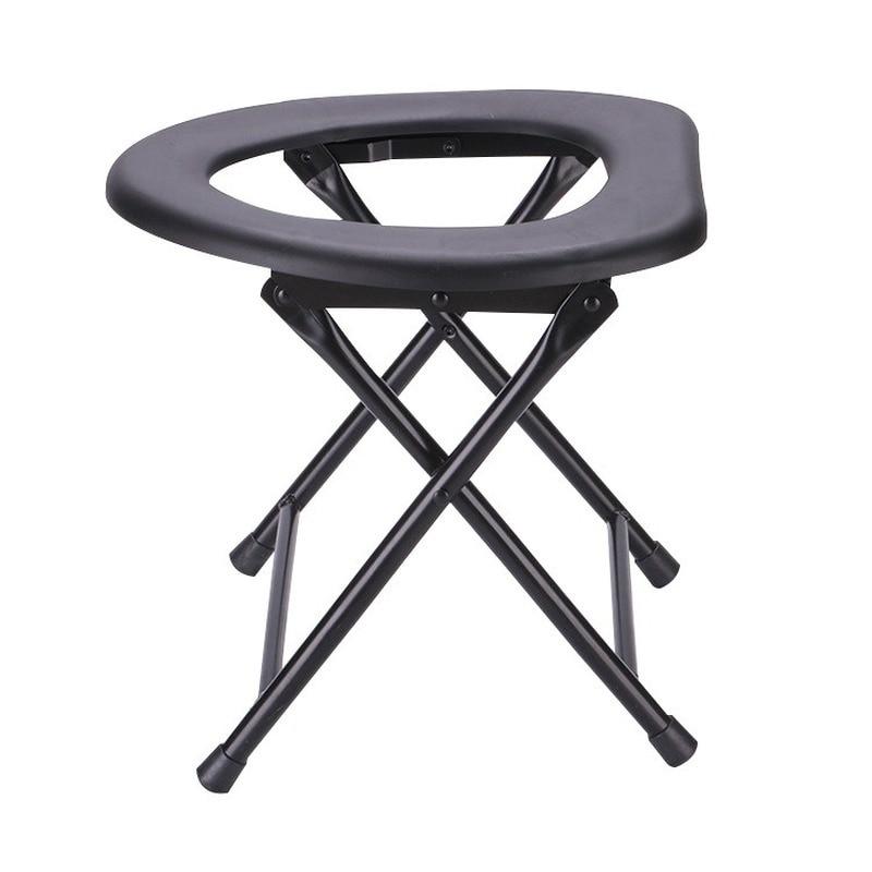 أفضل المحمولة تعزيز طوي كرسي مرحاض السفر التخييم تسلق الصيد ماتي كرسي النشاط في الهواء الطلق اكسسوارات WF1030