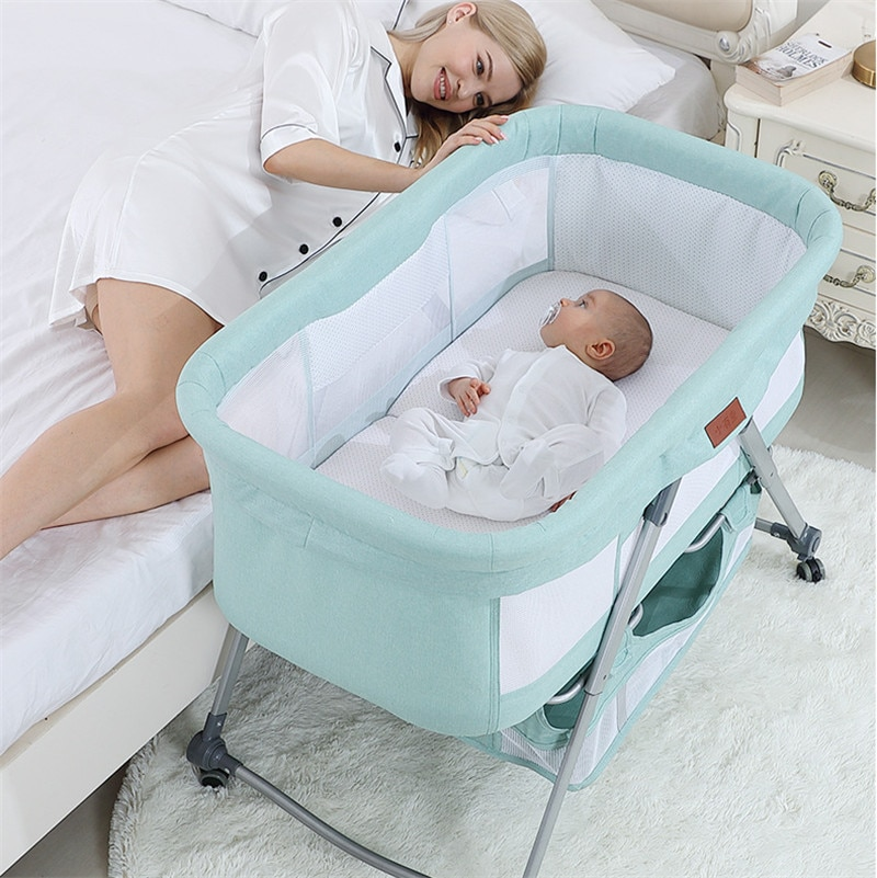 Baby Cradles Bassinets Foldable Portable Cribs for Baby Cradle Swing Lift Bed Baby Bedside Sleeper Berco Portatil Para Bebe Cot