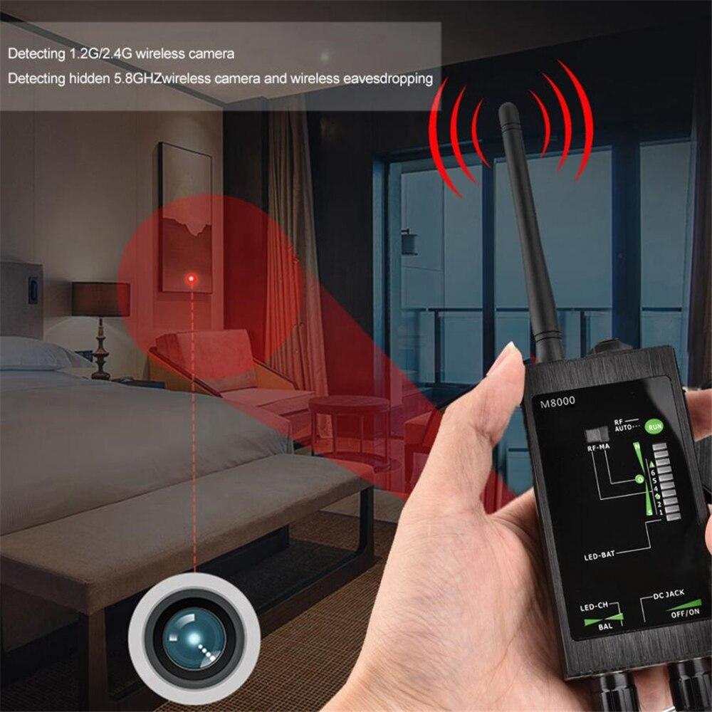 M8000 Bug Anti Spy RF Signal Detector Scanner For Hidden GSM GPS Camera Detecto Professional Radio Wave Detection Device enlarge