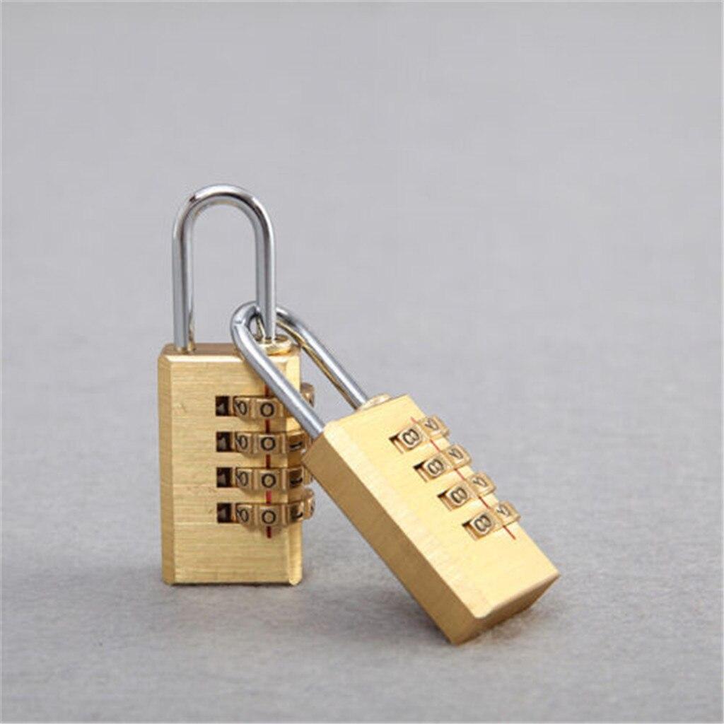 40^Password Lock Gold Security Lock Suitcase Luggage Coded Lock Cupboard Cabinet Locker Padlock Mini Brass Combination Digits