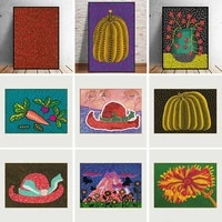 kusama purple pumpkin yayoi canvas painting posters and prints wall art picture cuadros home decoration room decor
