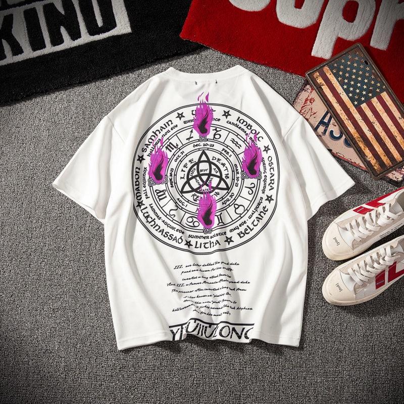 INS moda Punk camiseta mujeres hombres Lycra tapas Harajuku camisa de gran tamaño Knitte Print Streetwear ropa de pareja PlusSize TQ21