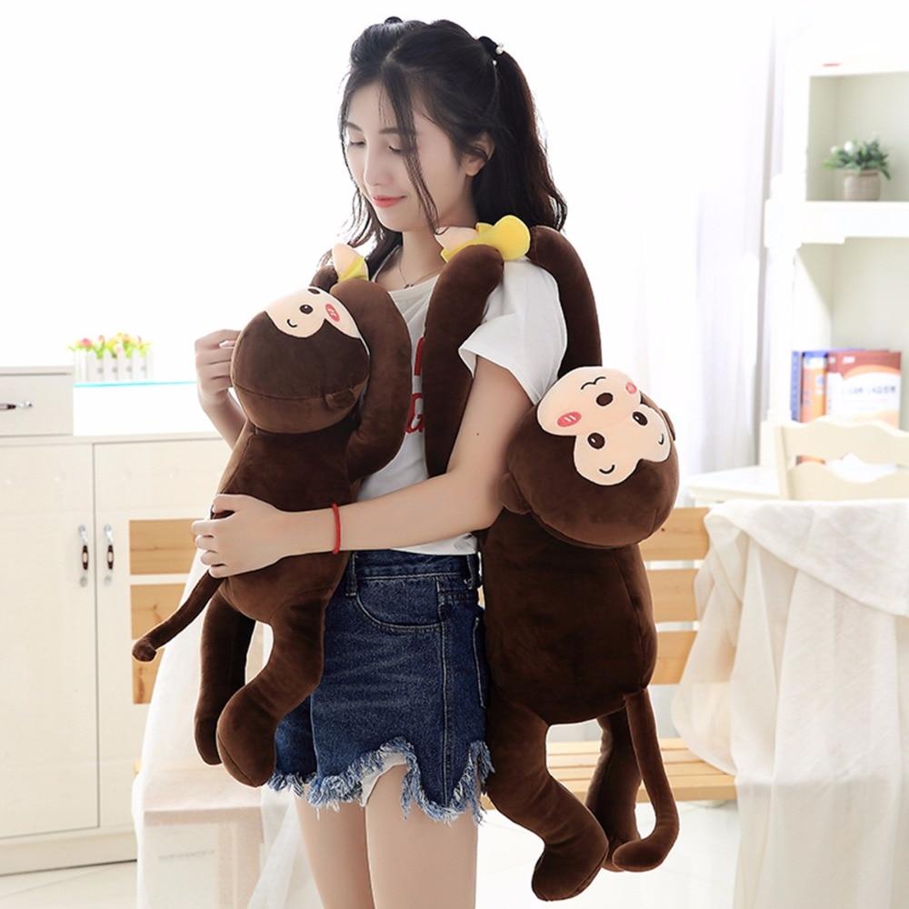 Bis Size Kids Colorful Long Arm Monkey Stuffed Animal Doll Toy Kids Gift