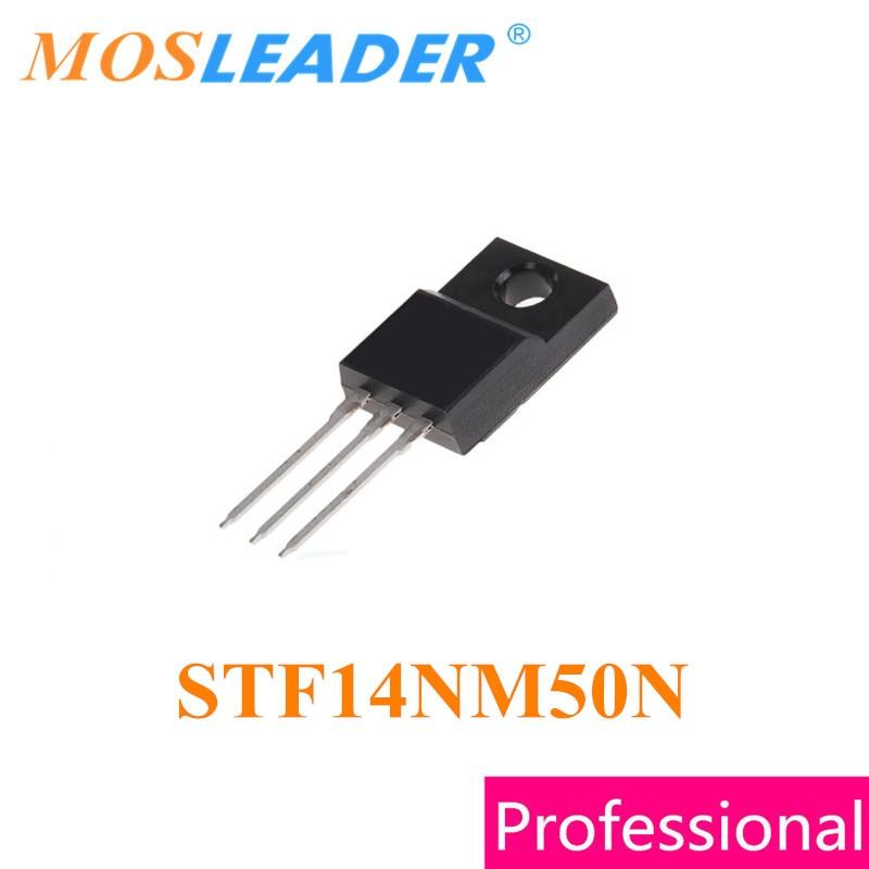 Mosleader STF14NM50N TO220F 100 قطعة STF14NM50 DIP N-قناة 500 فولت 0.28R 12A صنع في الصين جودة عالية
