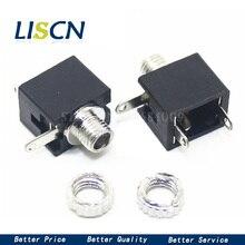 10 pièces PJ201M 2.5MM casque audio jack 3 broches mono prise PJ-201M connecteur