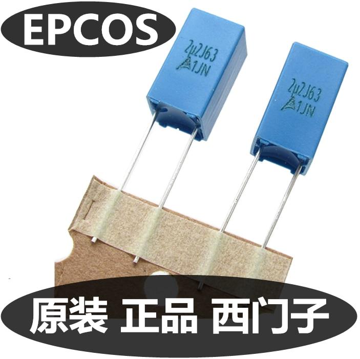 20 PIÈCES/50 PIÈCES EPCOS B32529 225 63V 5% P5MM Condensateur de Correction 2.2UF 63V Couplage condensateur à film 63V225J 225/63V 2U2 B32529D225J