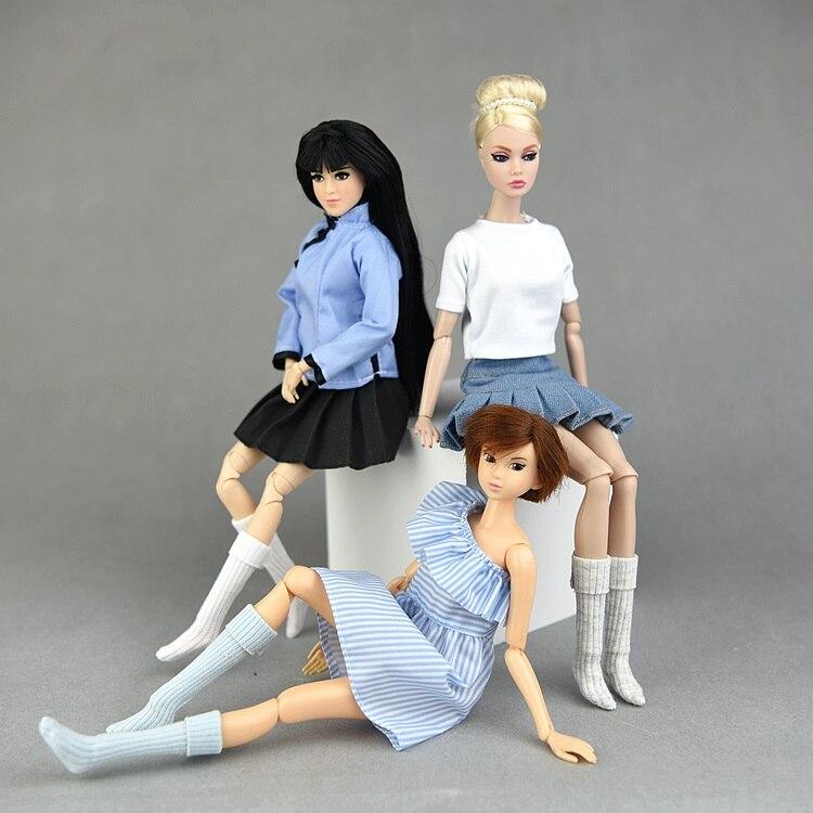 1 par 1/6 medias Calcetines para Barbie para muñeca Blyth licca BJD accesorios de ropa hechos a mano