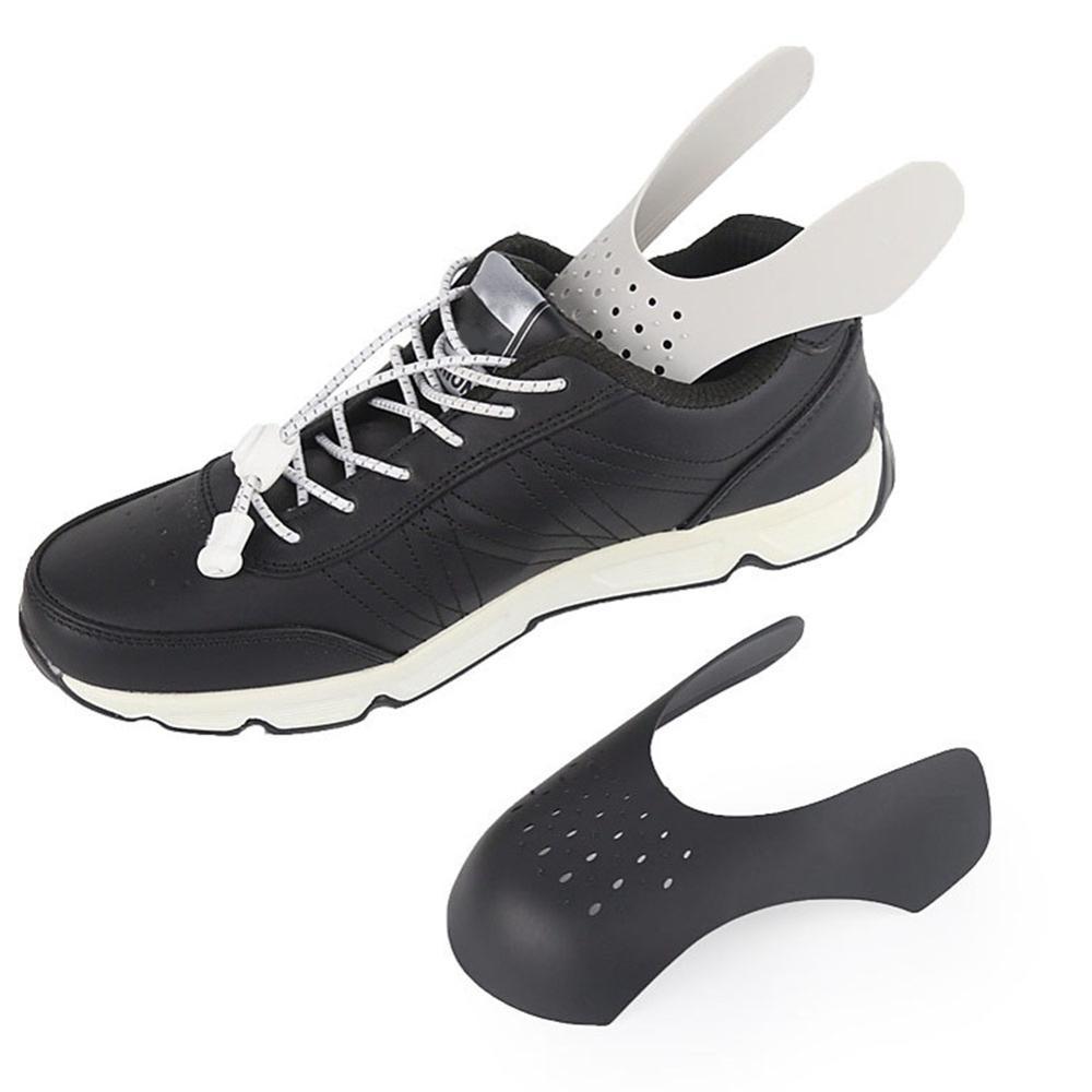 2 pares lavável toe boné apoio maca sapato prático anti vinco dobra crack universal sneaker shield shaper expansor
