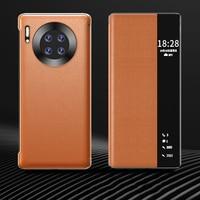 Роскошный кожаный чехол-книжка Smart View для Huawei Mate 40 Pro Mate40 Mate40 Pro 40 Pro 5G глобальная версия, Магнитный чехол для телефона