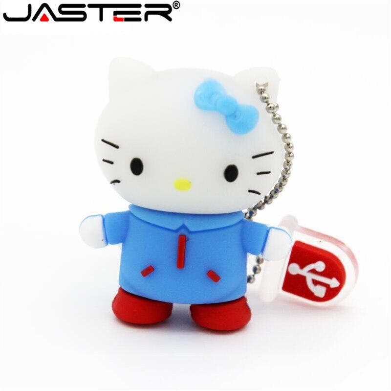 JASTER Lovely bear baby hello kitty pen drive key chain pendrive 4GB 8GB 16GB 32GB 64GB USB flash drive stick mini lovely gift