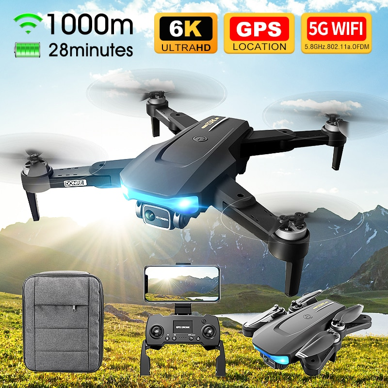 Eachine & LSRC LS38 Drone Profesional HD 6K Mini Camera RC Quadcopter With 5G WIFI GPS Brushless Motor 4CH Helicopter Dron
