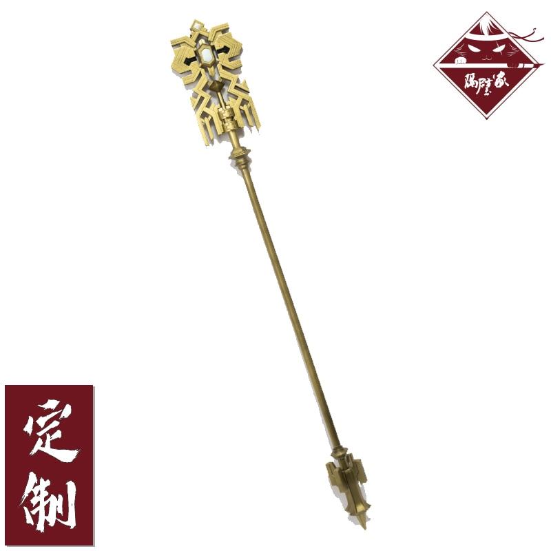 Punto Final fantasía FF14 el cristal Exarch personal Cosplay disfraz cos apoyos arma Magic Stick Wand Staves accesorio personal