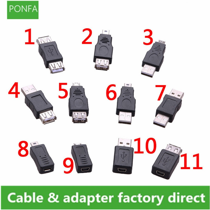 Multiple styles USB OTG Mini USB Micro 5pin Adapter Converter USB Male to Female Micro USB Adapter Gadgets