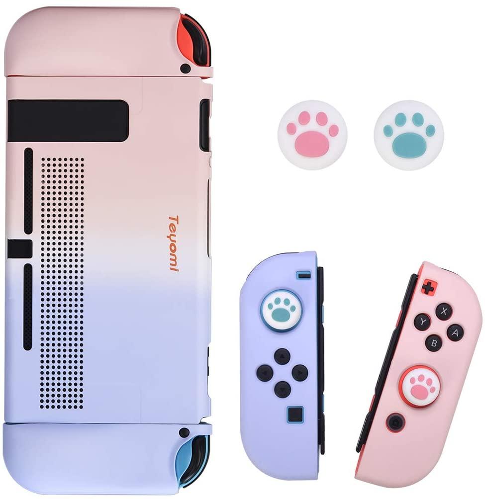 Чехол для Nintendo Switch с 2 захватами для больших пальцев, Жесткий Чехол, эргономичный чехол из ТПУ и защитный чехол из АБС-пластика для Nintendo Switch чехол
