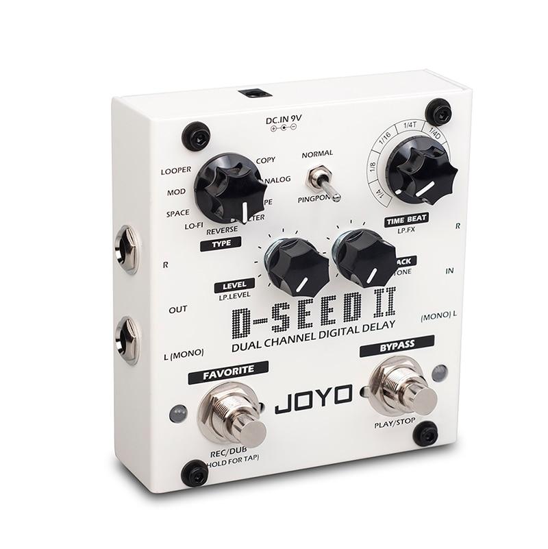 JOYO D-SEED-II Digital Delay Pedal For Electric Guitar Floor Multi Looper & Delay Guitar Effect Pedal Guitar Bass Accessories enlarge