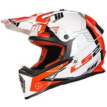 Casque de moto hors route LS2 MX436   Casque de course de Motocross LS2 DOT ECE, casque complet ATV Dirt Bike