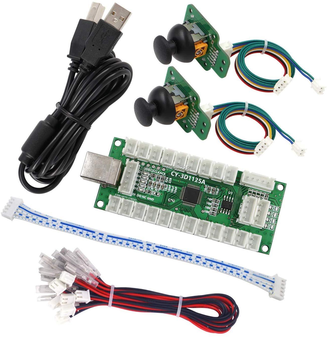 وحدة تحكم ألعاب أركيد ثلاثية الأبعاد مع مستشعر عصا تناظرية ، وحدة تحكم USB ، كابل تشفير USB للكمبيوتر الشخصي ، MAME ، PS3 ، Android